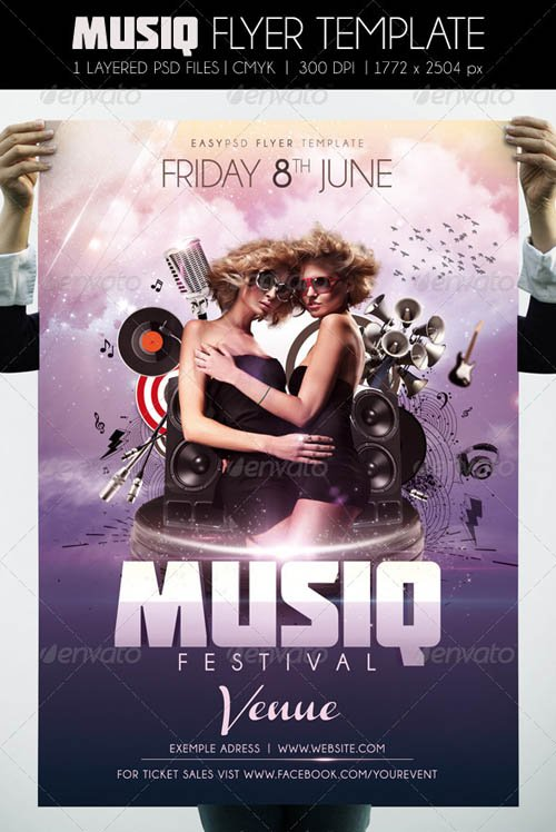 GraphicRiver Musiq Flyer Template