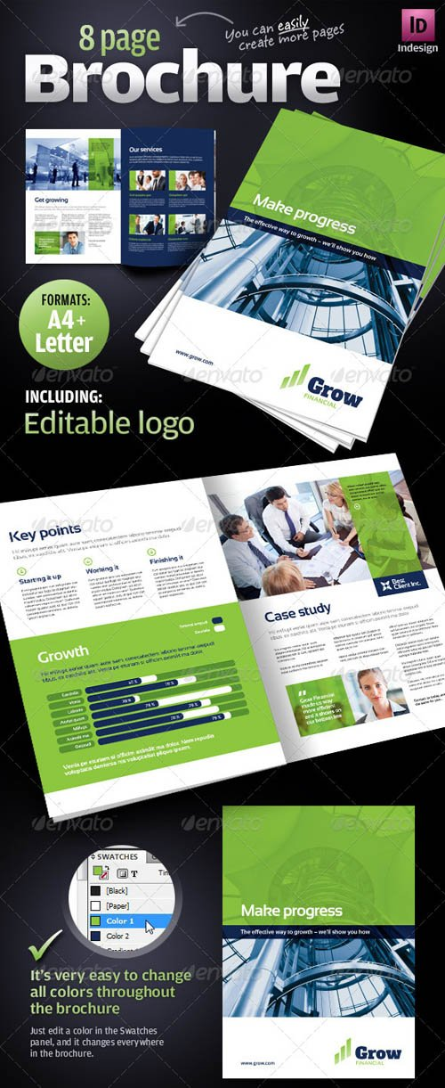 GraphicRiver 8 page Corporate Business Brochure