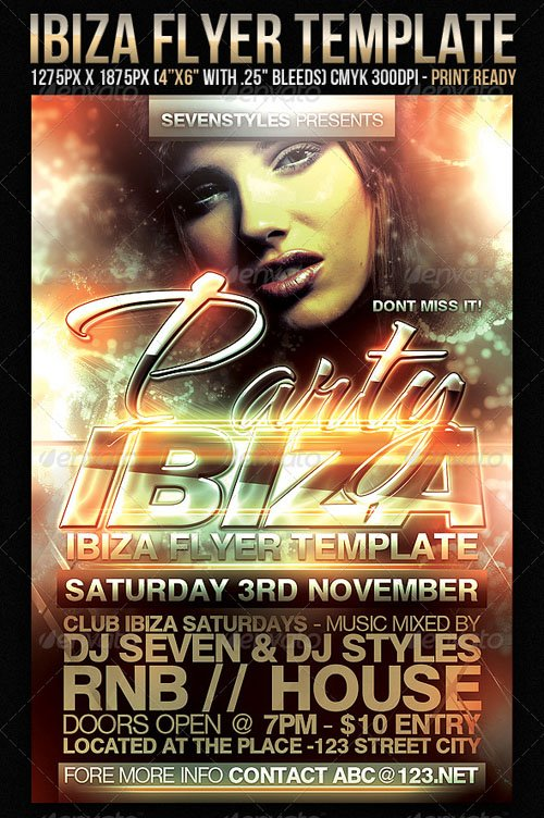 GraphicRiver Ibiza Flyer Template