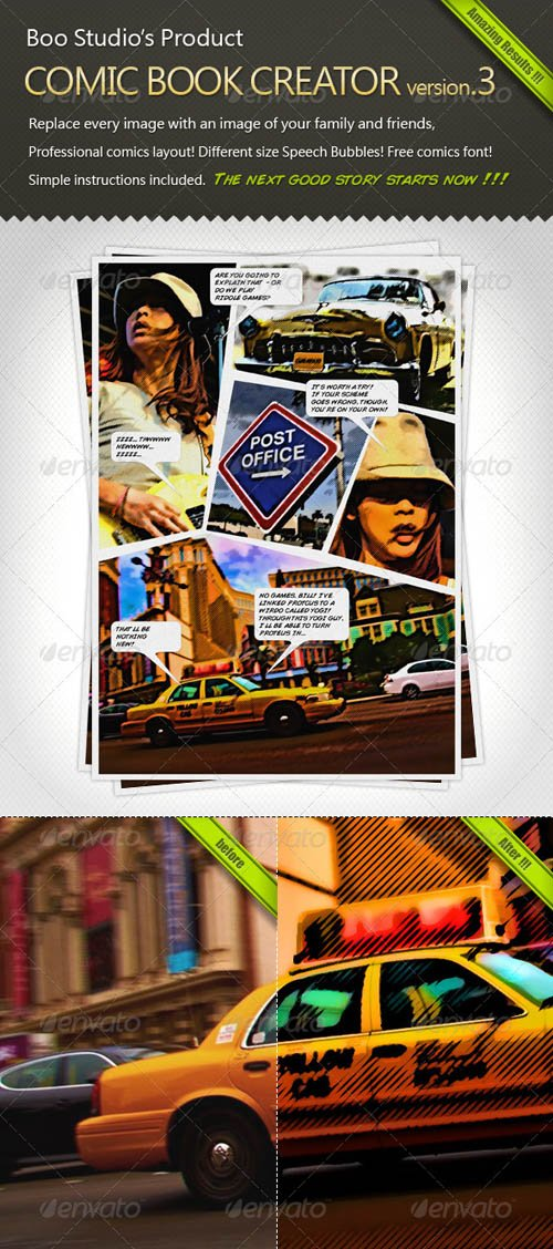 GraphicRiver Comic Book Creator v.3