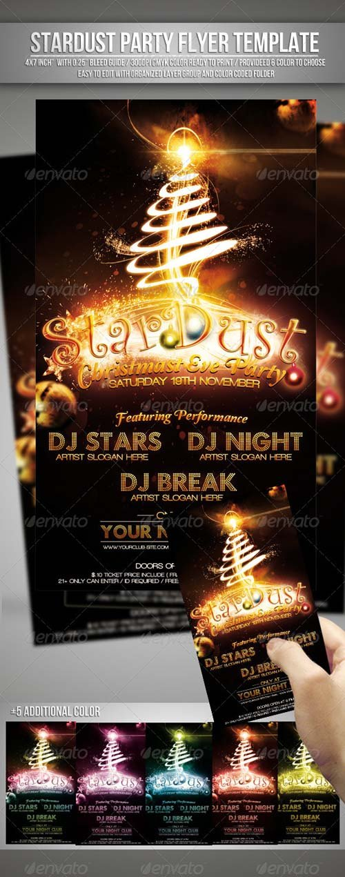 GraphicRiver Stardust (Christmas Eve Party) Flyer Template