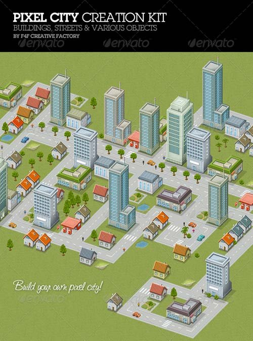 GraphicRiver Pixel City Creation Kit