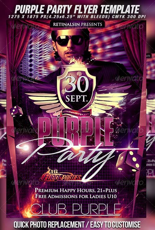 GraphicRiver Purple Party Flyer Template