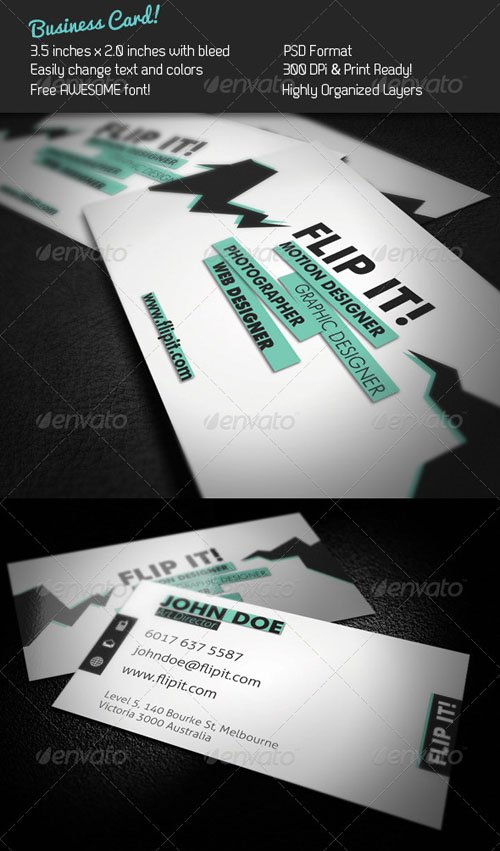 Graphicriver FLIP IT! Business Card