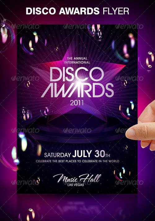 GraphicRiver Disco Awards Party Flyer