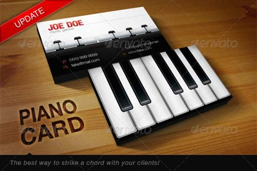 GraphicRiver Piano Card