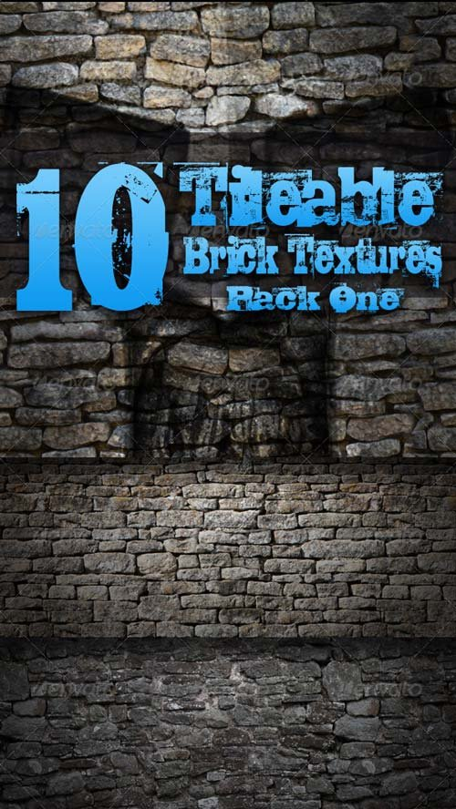GraphicRiver 10 Tileable Brick Textures - Pack One