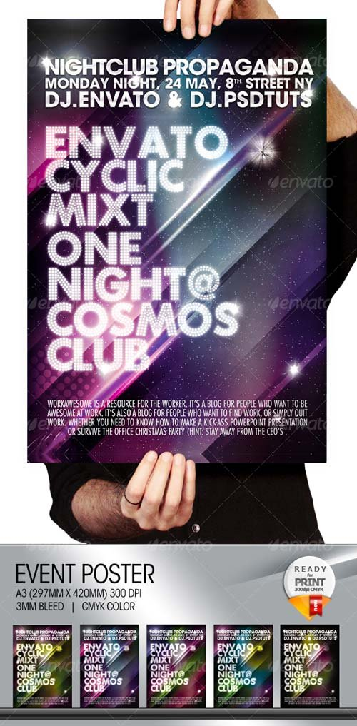 GraphicRiver Cosmos Summer Party / Nightclub Poster & Flyer