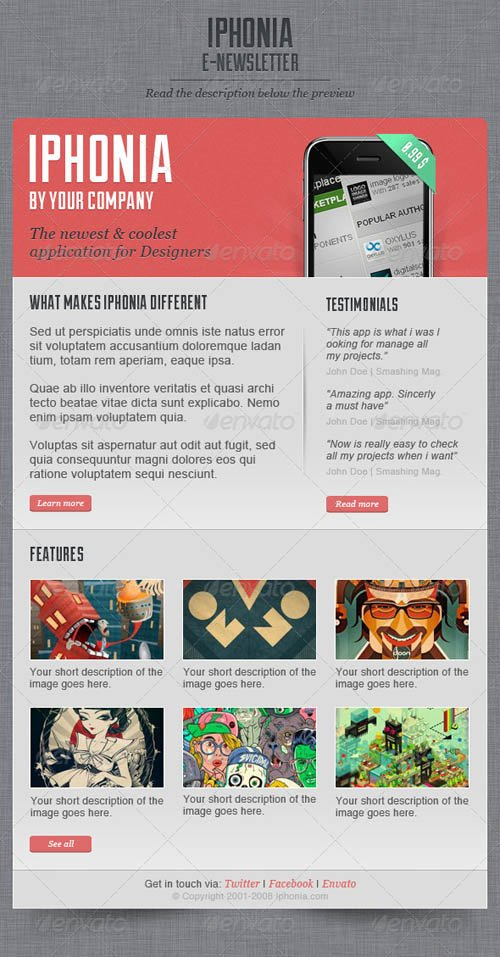 creative newsletters templates