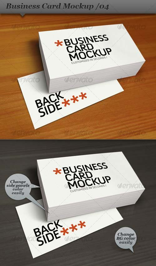 GraphicRiver Business Card Mockup Display - Smart Template 04