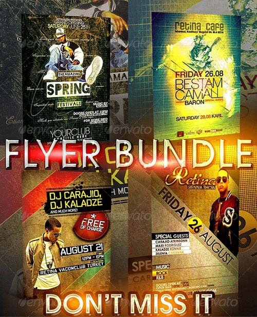 GraphicRiver Minimal Flyer Bundle - 4in1