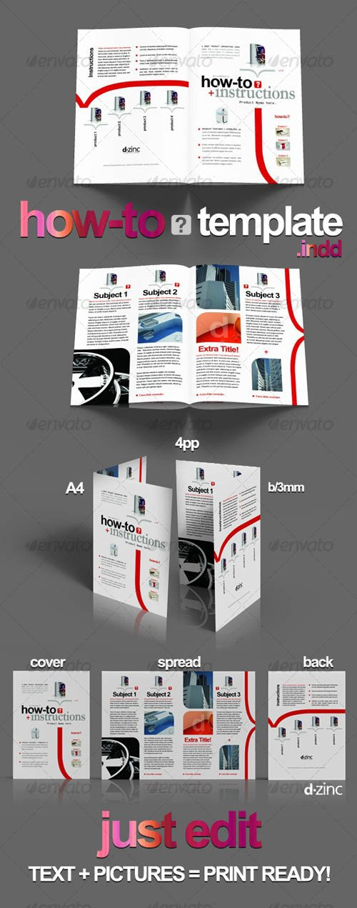 GraphicRiver How-To Professional Template v1 / InDesign A4 4pp