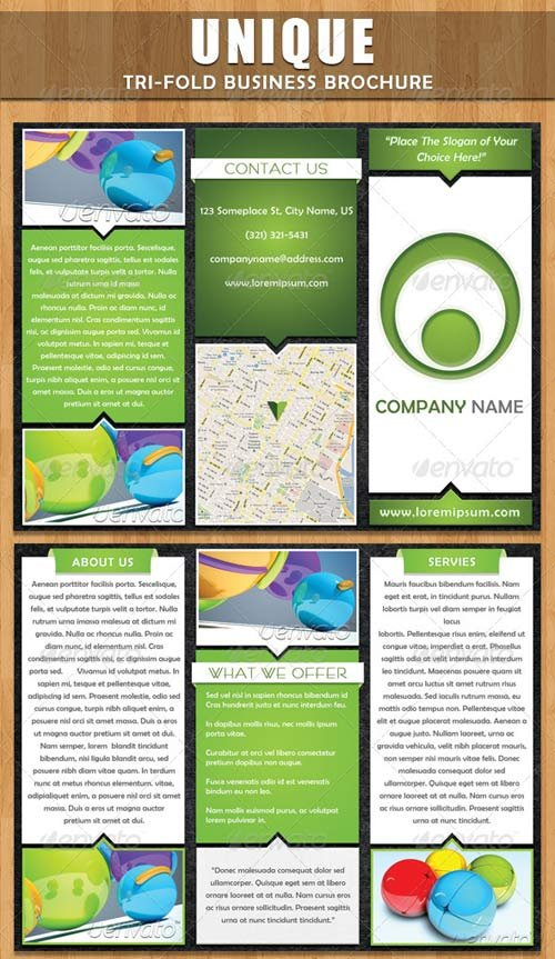 GraphicRiver Unique Tri-fold Brochure