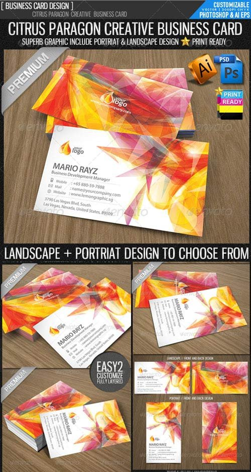 GraphicRiver Citrus paragon corporate business card