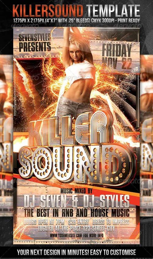 GraphicRiver KillerSound Flyer Template