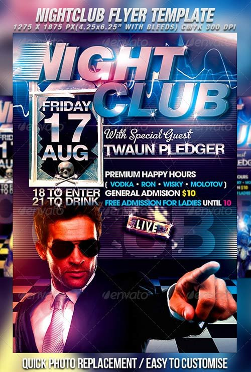 GraphicRiver Nightclub Flyer Template