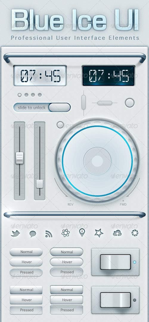 GraphicRiver Blue Ice User Interface Elements