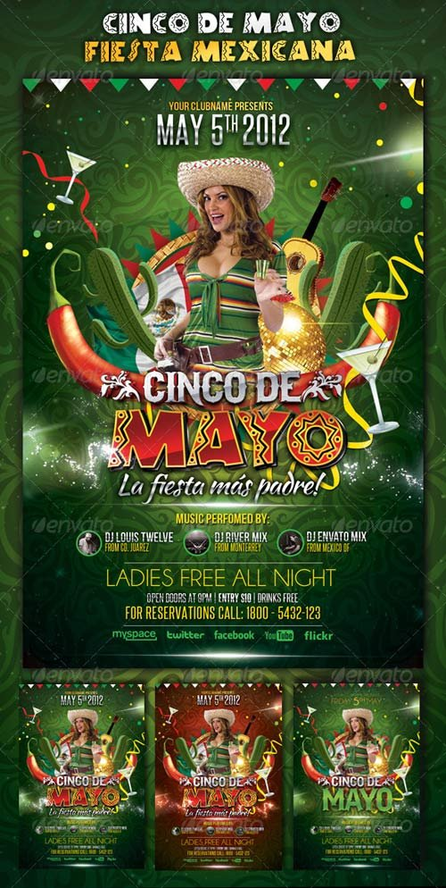 GraphicRiver Cinco de Mayo Party - Flyer Template