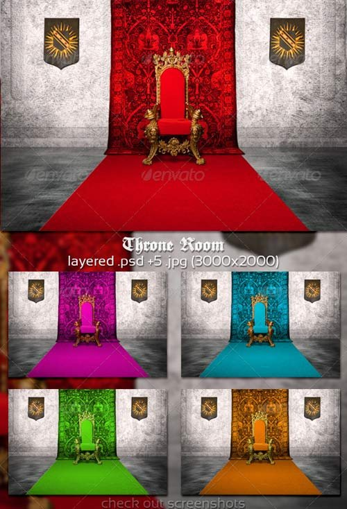 GraphicRiver Throne Room Background