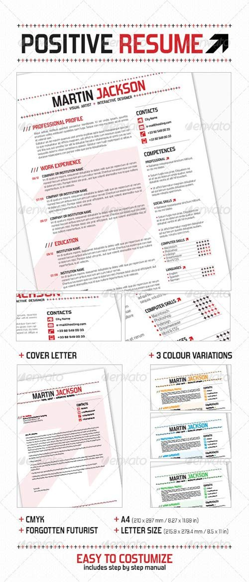 GraphicRiver Positive Resume
