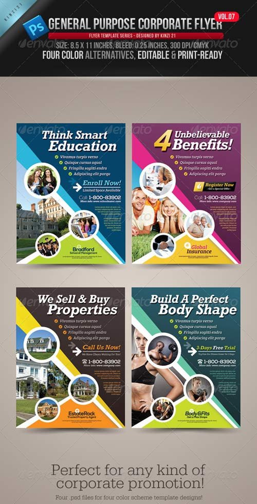 GraphicRiver General Purpose Corporate Flyer Vol.07