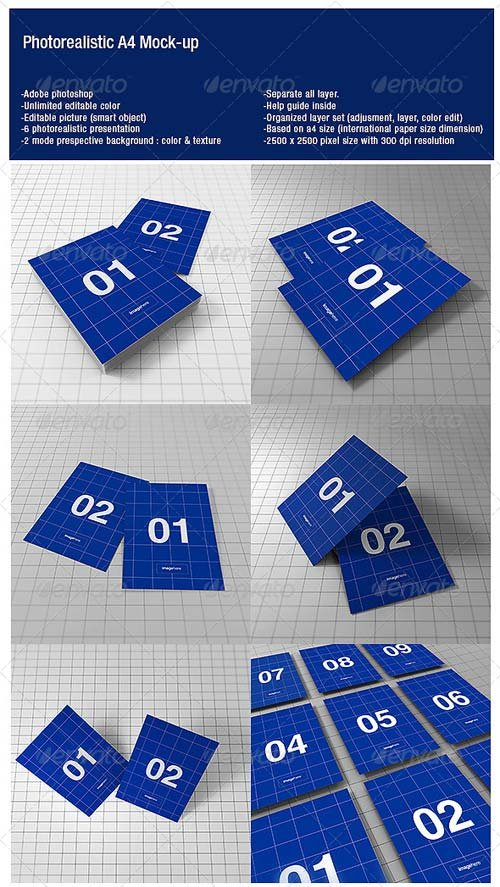 GraphicRiver A4 Photorealistic Mock-up