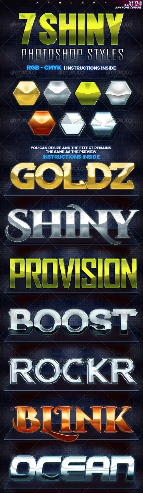 GraphicRiver 7 Shiny Photoshop Styles