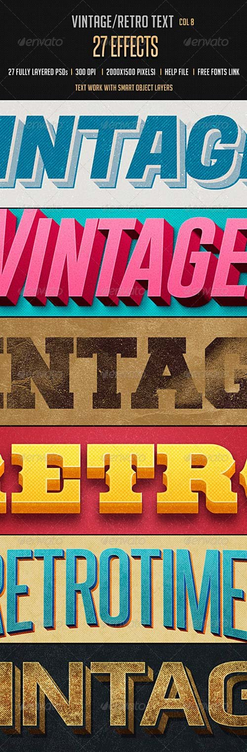 GraphicRiver Vintage Retro Text Effects Col 8