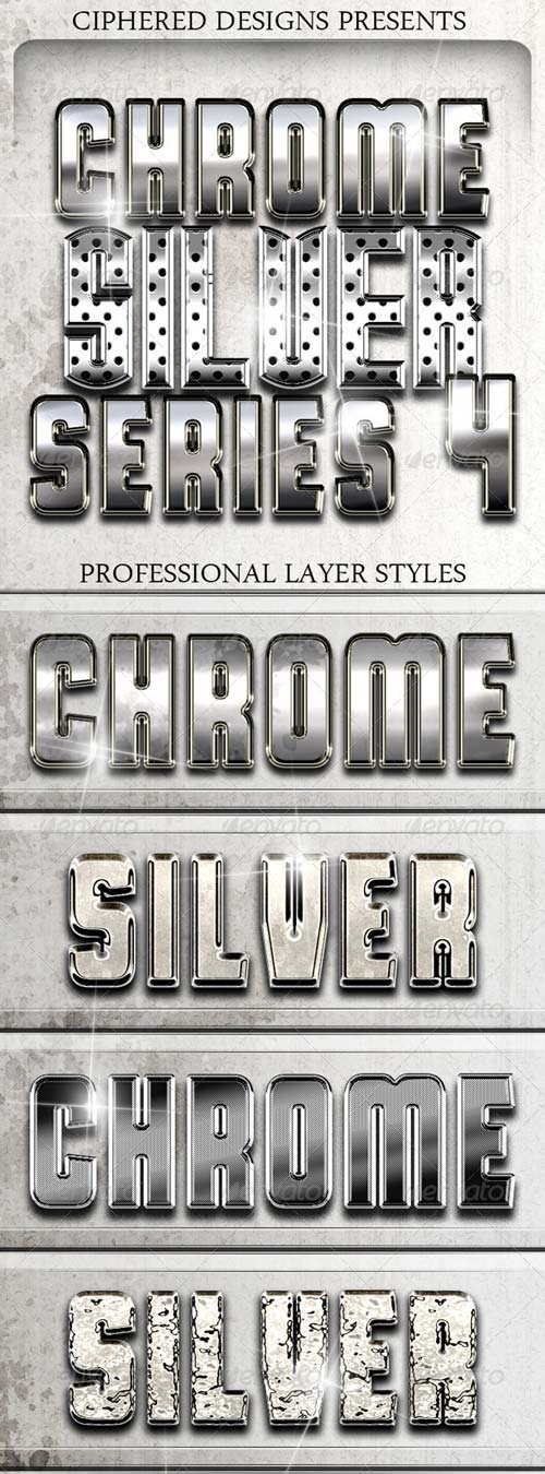GraphicRiver Chrome & Silver Series 4 - Pro Text Effects