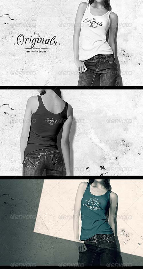GraphicRiver Women Tank Shirt Mock-up