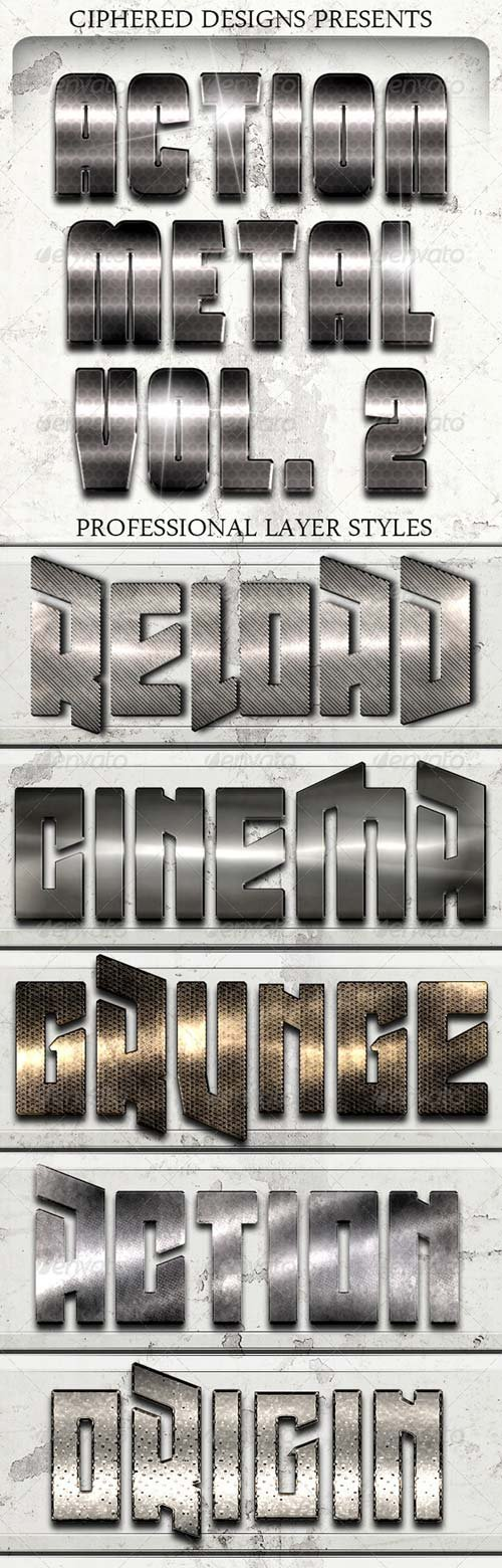GraphicRiver Action Metal 02 - Pro Text Effects
