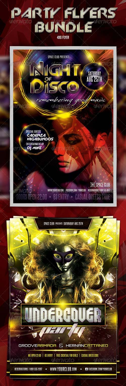 GraphicRiver Undercover Disco Flyers Bundle