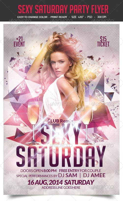 GraphicRiver Sexy Saturday Party Flyer