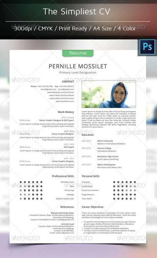 GraphicRiver The Simplest CV