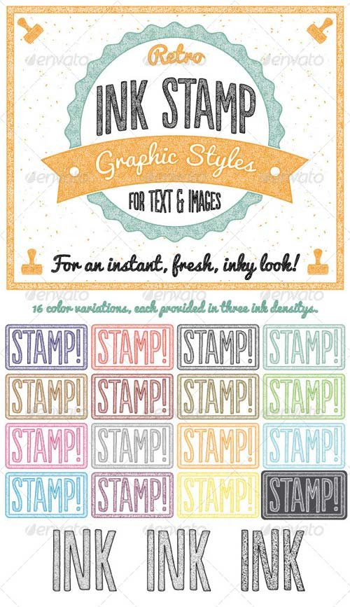 GraphicRiver Retro Ink Stamp Graphic Styles