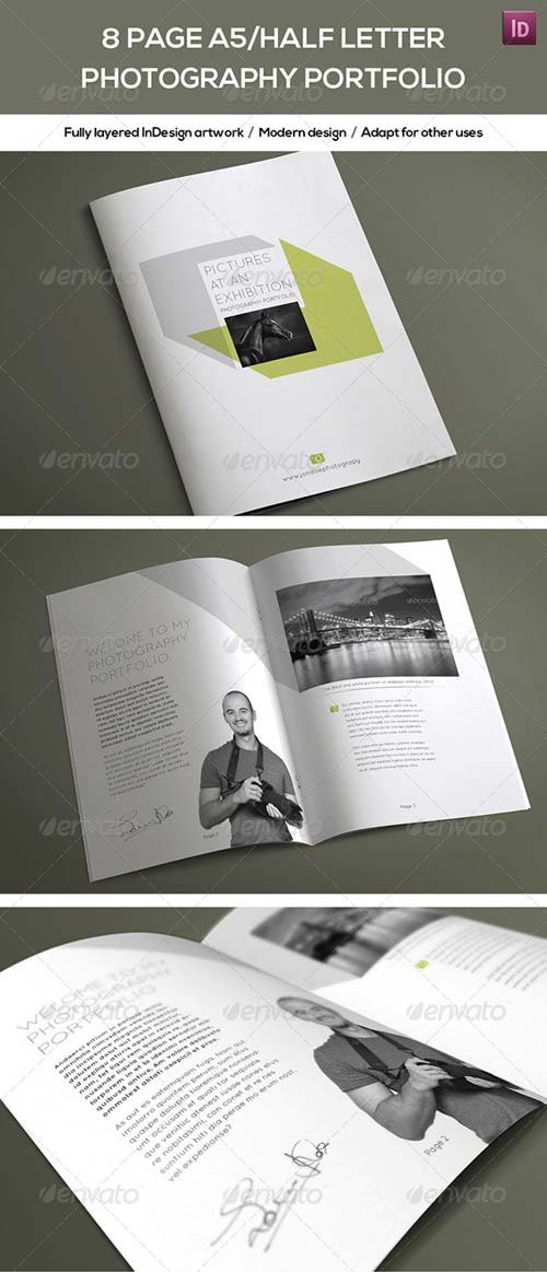 GraphicRiver 8 Page A5/Half Letter Photography Portfolio