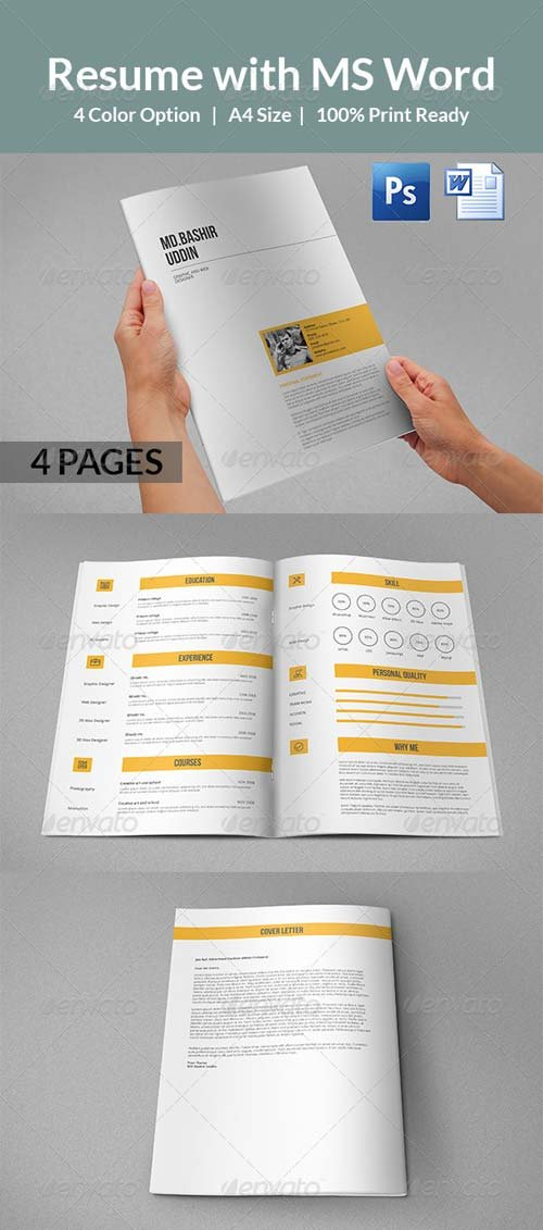 GraphicRiver Resume with MS Word