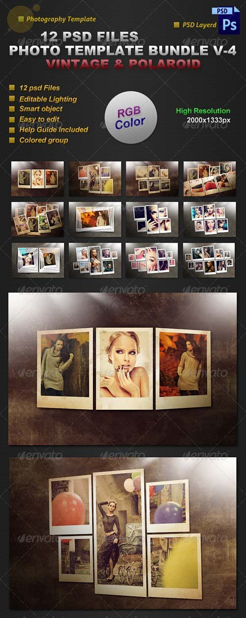 GraphicRiver Photo Template Bundle V-4