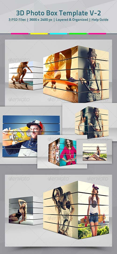 GraphicRiver 3D Box Photo Template V.02