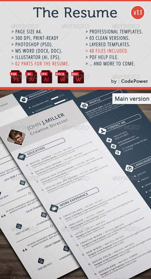 GraphicRiver The Resume