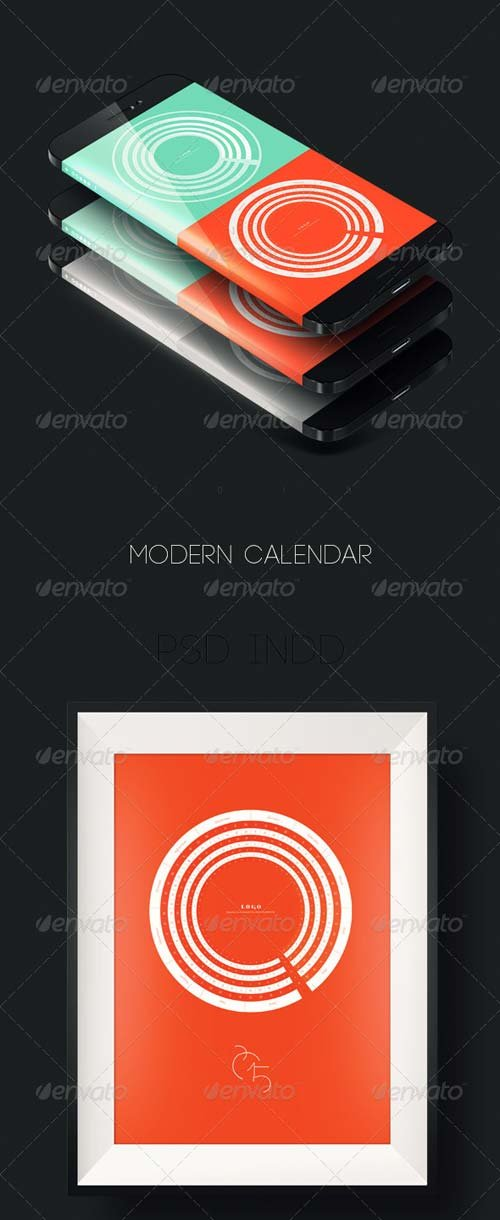 GraphicRiver Modern 2015 Circle Calendar
