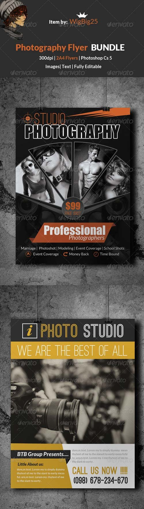 GraphicRiver Photography & Photo Studio Flyer Bundles