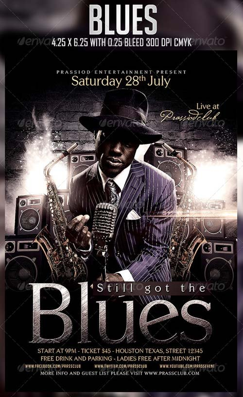 GraphicRiver Blues Flyer Template