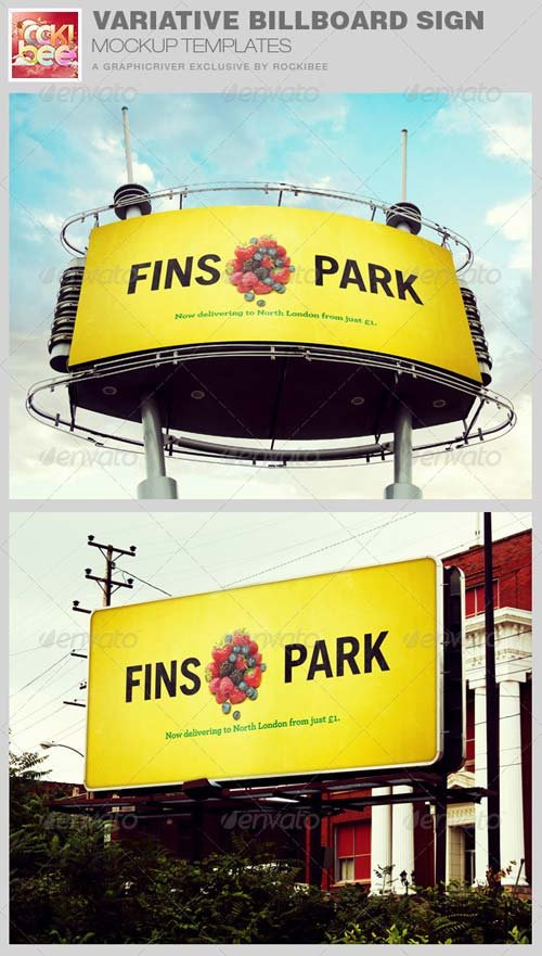 GraphicRiver Variative Billboard Sign Mockup Templates