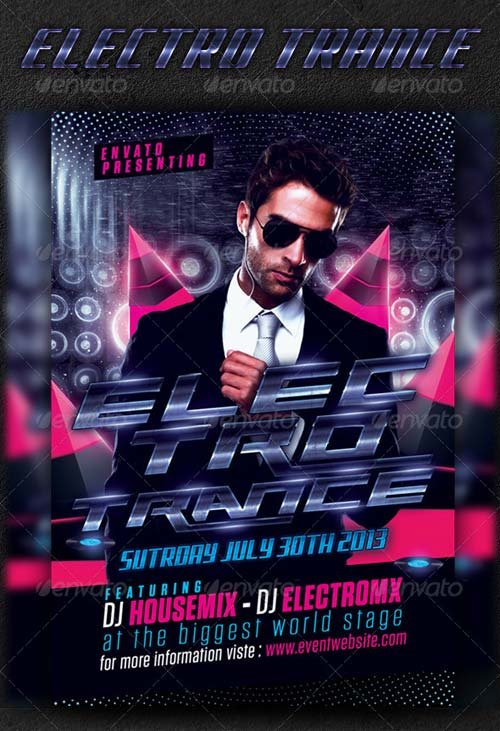 GraphicRiver Electro Trance Flyer