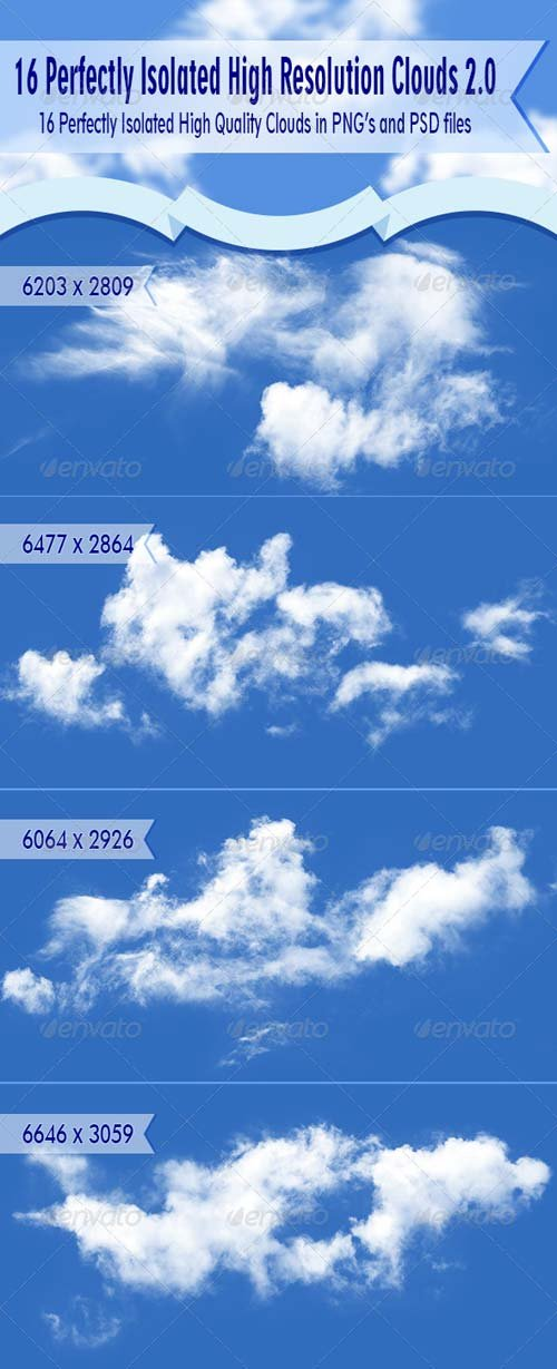 GraphicRiver Isolated Clouds