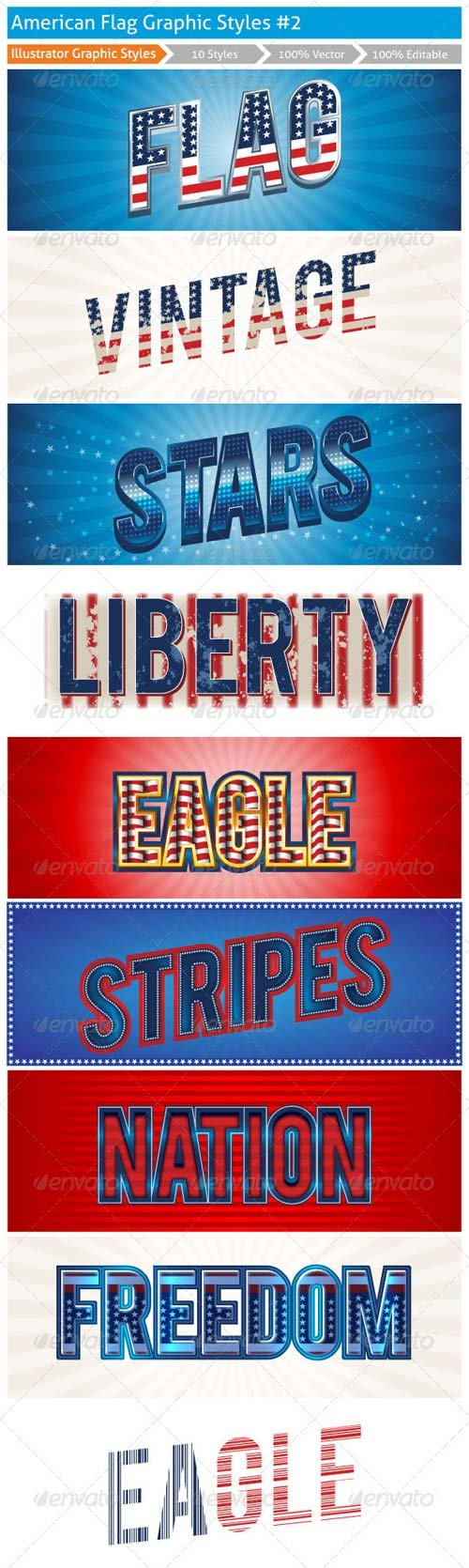 GraphicRiver American Graphic Styles 2