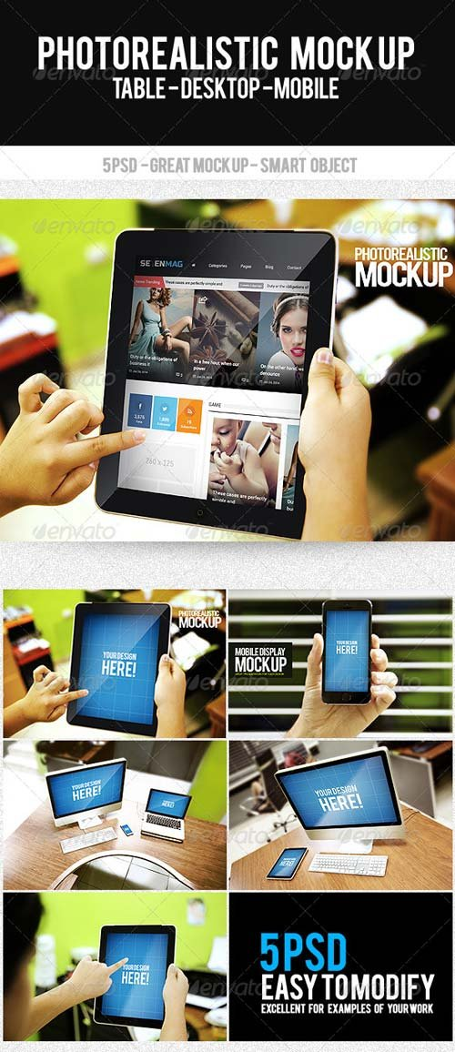 GraphicRiver Photorealistic Mock Up Display Web