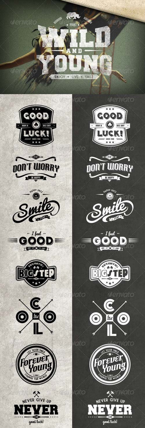 GraphicRiver 10 Cool Retro Badges
