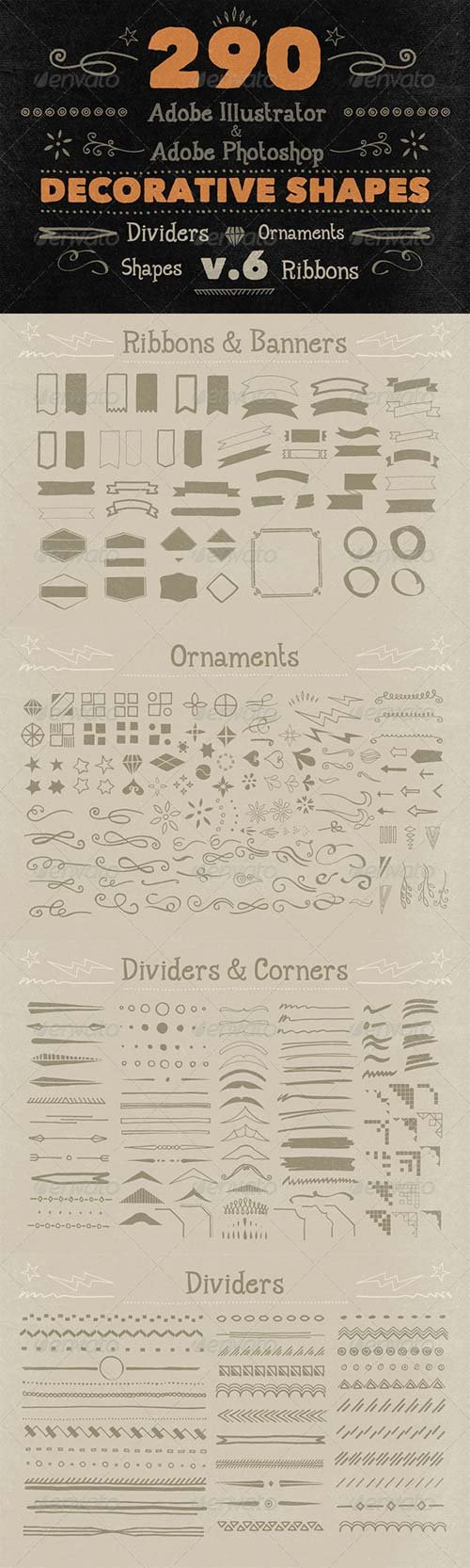 GraphicRiver 290 Handwritten Decorative Shapes 06